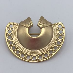 Jewelry - 24k gold-plated pin brooch from Mexico